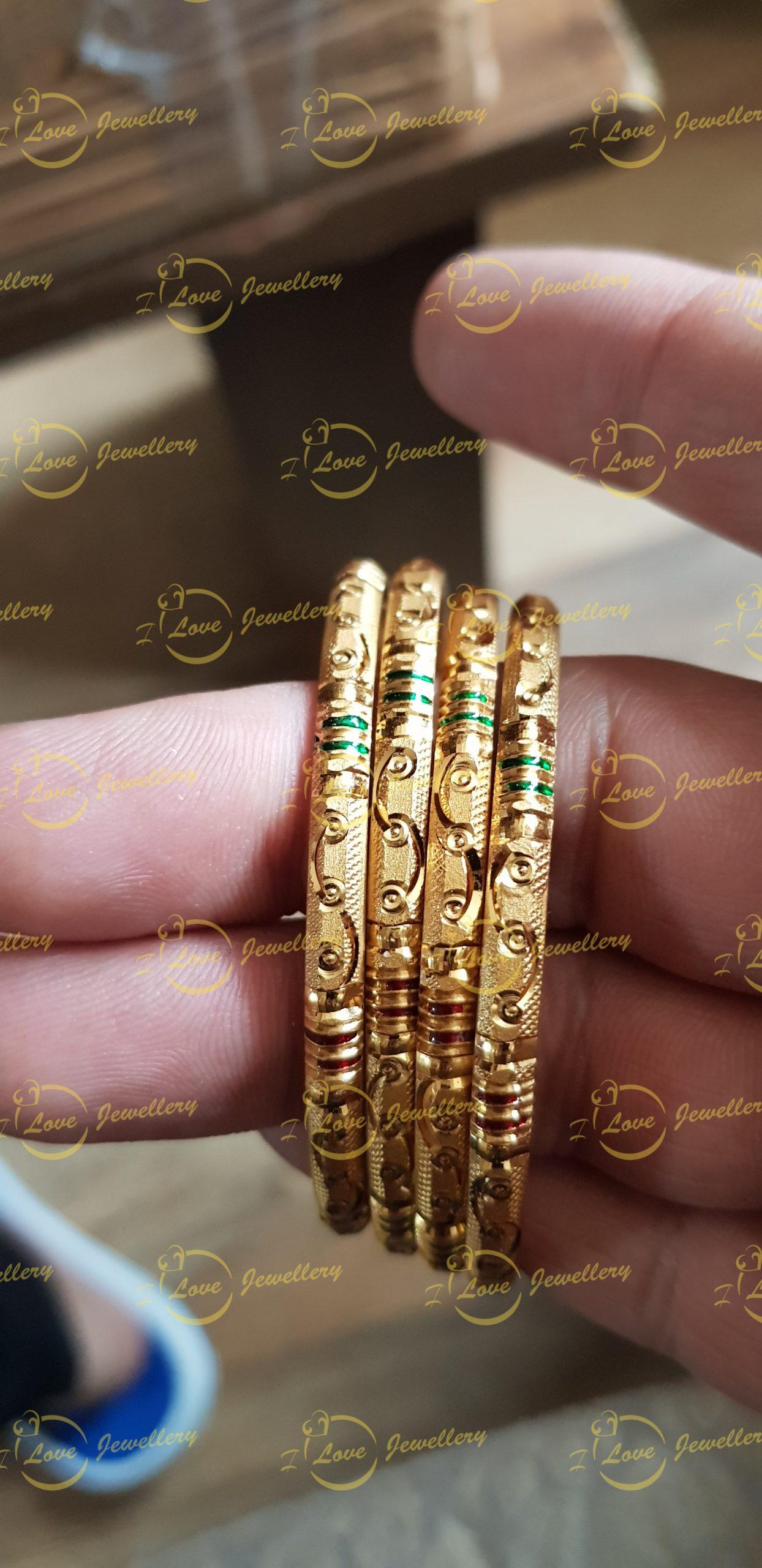 Bangles - golden bangles - wholesale Pakistani jewellery - bespoke Pakistani jewellery