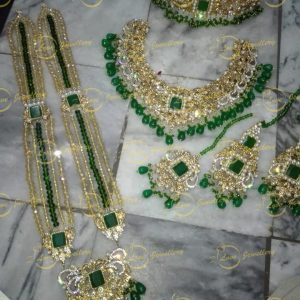Pakistani bridal jewellery - green bridal necklace - bridal chokers - bridal mala - mehndi jewellery - Pakistani wedding jewellery - Pakistani bridal jewellery - wholesale Pakistani jewellery - bespoke Pakistani jewellery