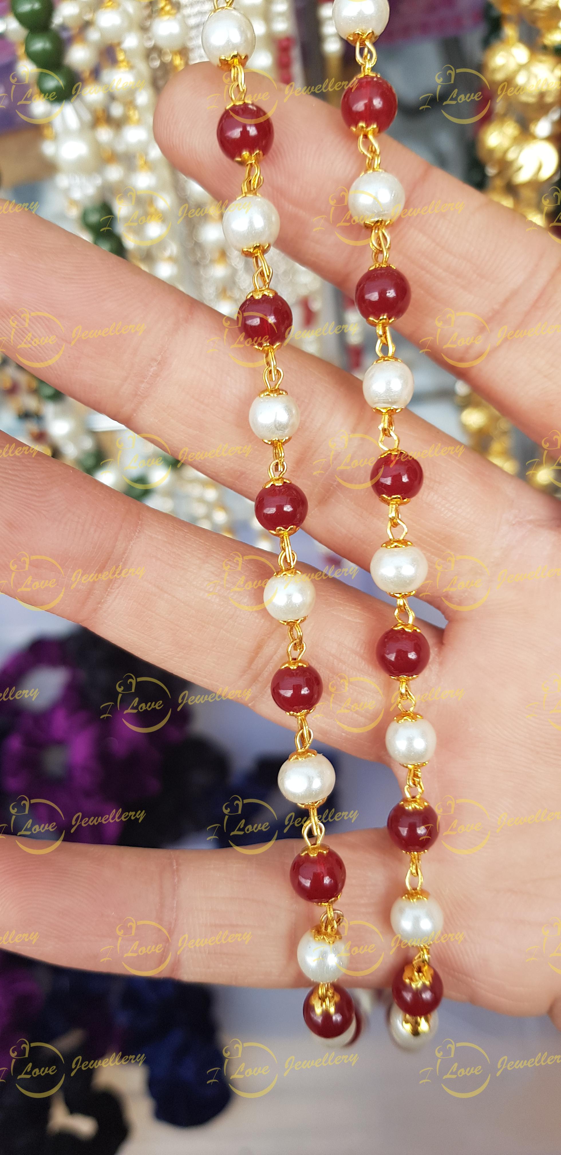 Fashion chain- pearl chain - maroon chain - golden chain - maroon chain - wholesale Pakistani jewellery - bespoke Pakistani jewellery - Pakistani wedding jewellery - Pakistani bridal jewellery
