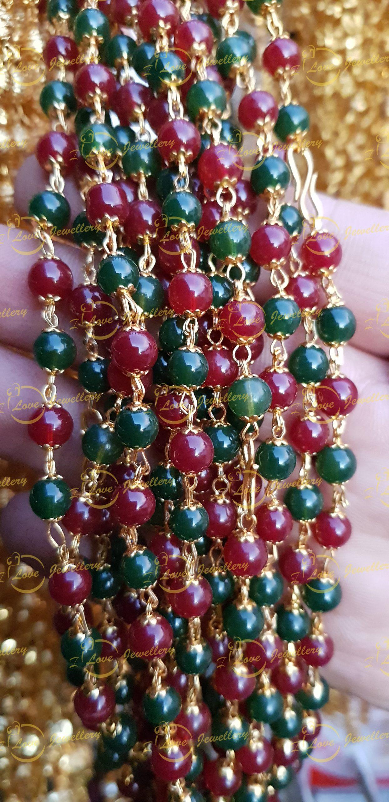 Fashion chain- green maroon chain - golden chain - beaded chain -mehndi chain - golden chain - maroon chain - wholesale Pakistani jewellery - bespoke Pakistani jewellery - Pakistani wedding jewellery - Pakistani bridal jewellery