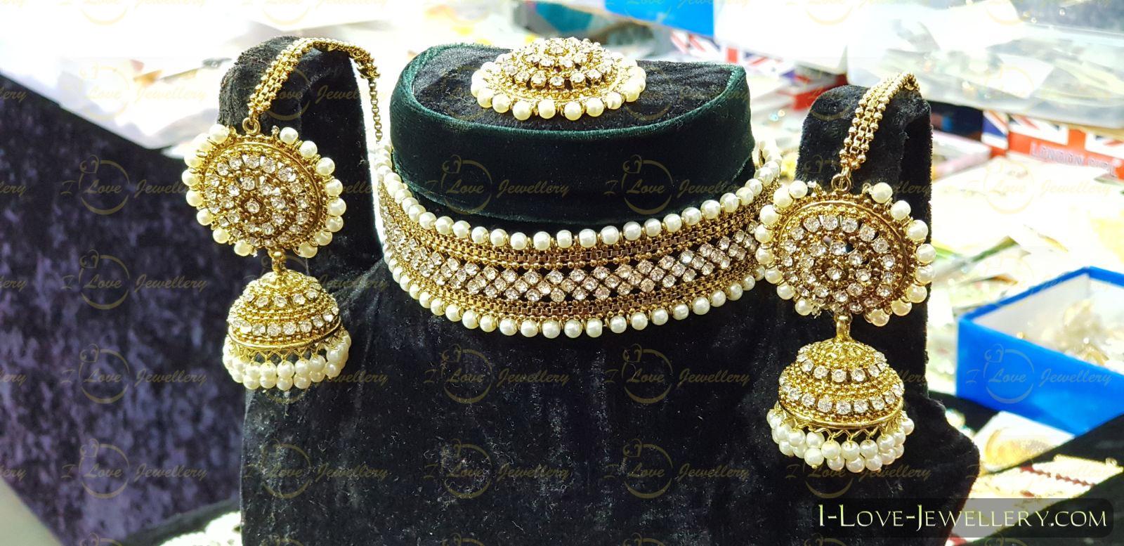 Pakistani choker - pearl choker - champagne choker - silver choker - mehndi choker - bridal chokers - wedding choker necklace- golden choker - wholesale Pakistani jewellery - bespoke Pakistani jewellery