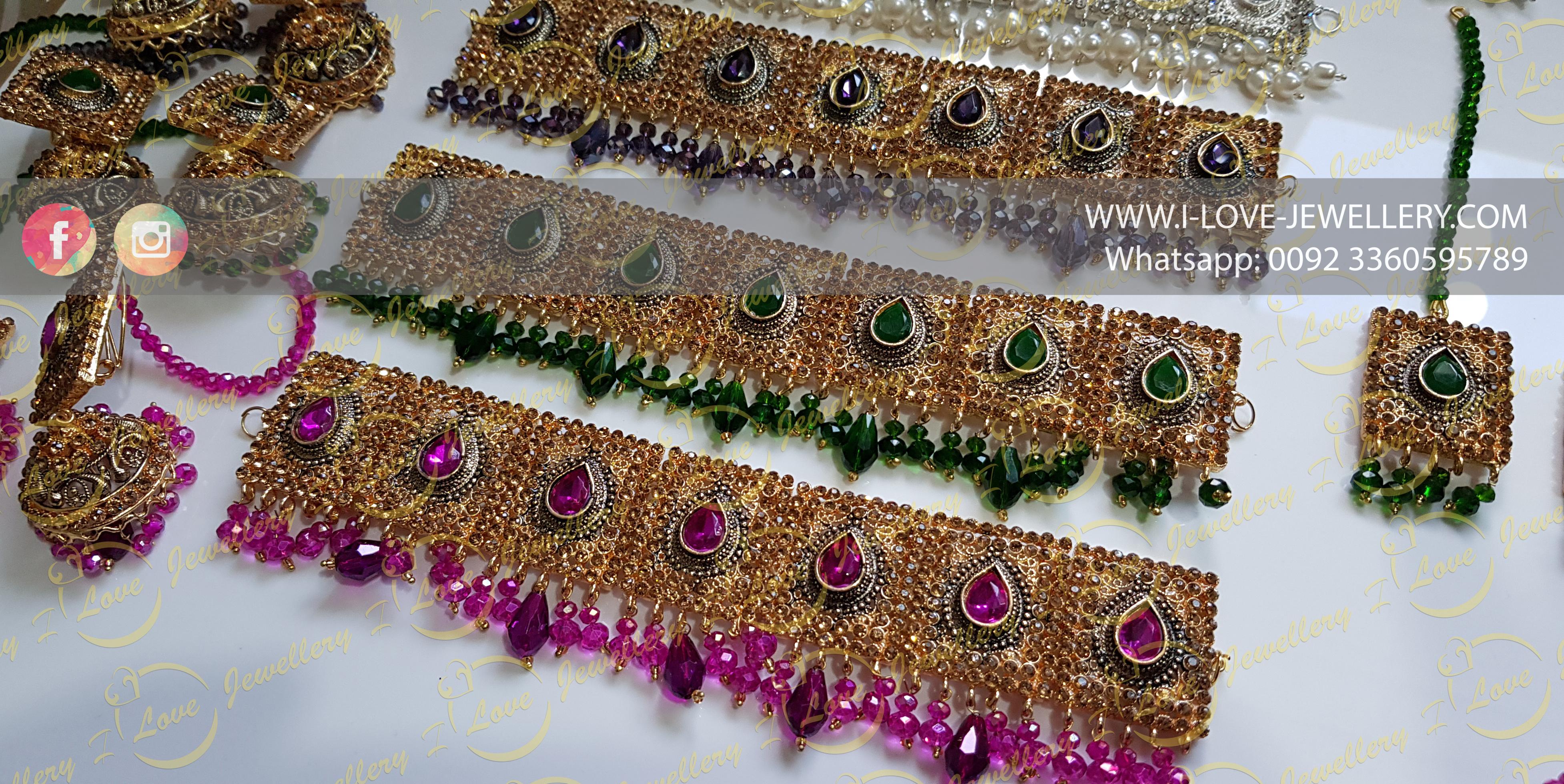 Pakistani choker - maroon choker - Champagne choker - silver choker - party chokers - bridal chokers - mehndi jewellery - Pakistani wedding jewellery - Pakistani bridal jewellery - wholesale Pakistani jewellery - bespoke Pakistani jewellery