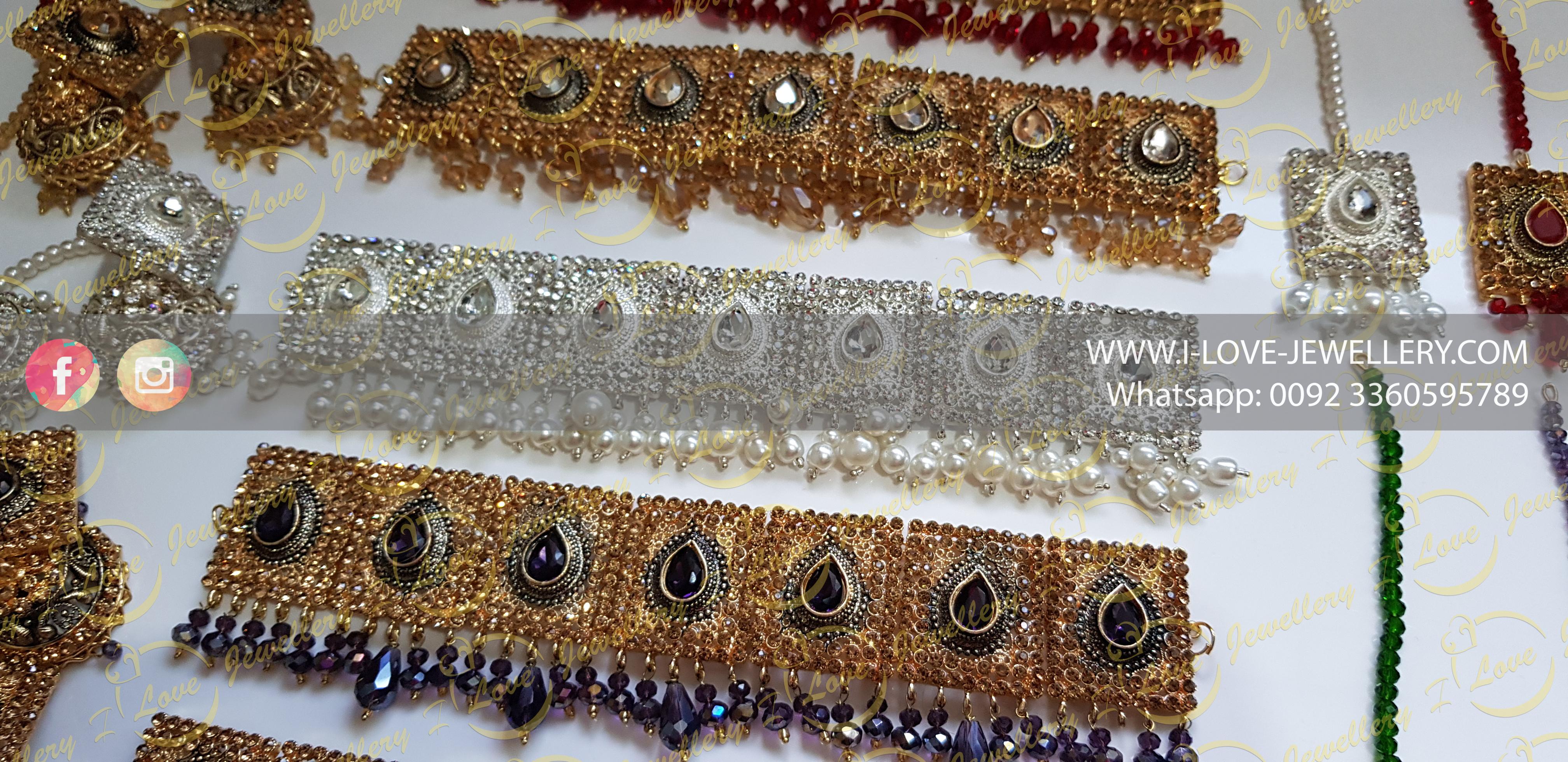 Pakistani choker - champagne choker - silver choker - purple choker - mehndi choker - bridal chokers - wedding choker necklace- golden choker - pearl choker - wholesale Pakistani jewellery - bespoke Pakistani jewellery