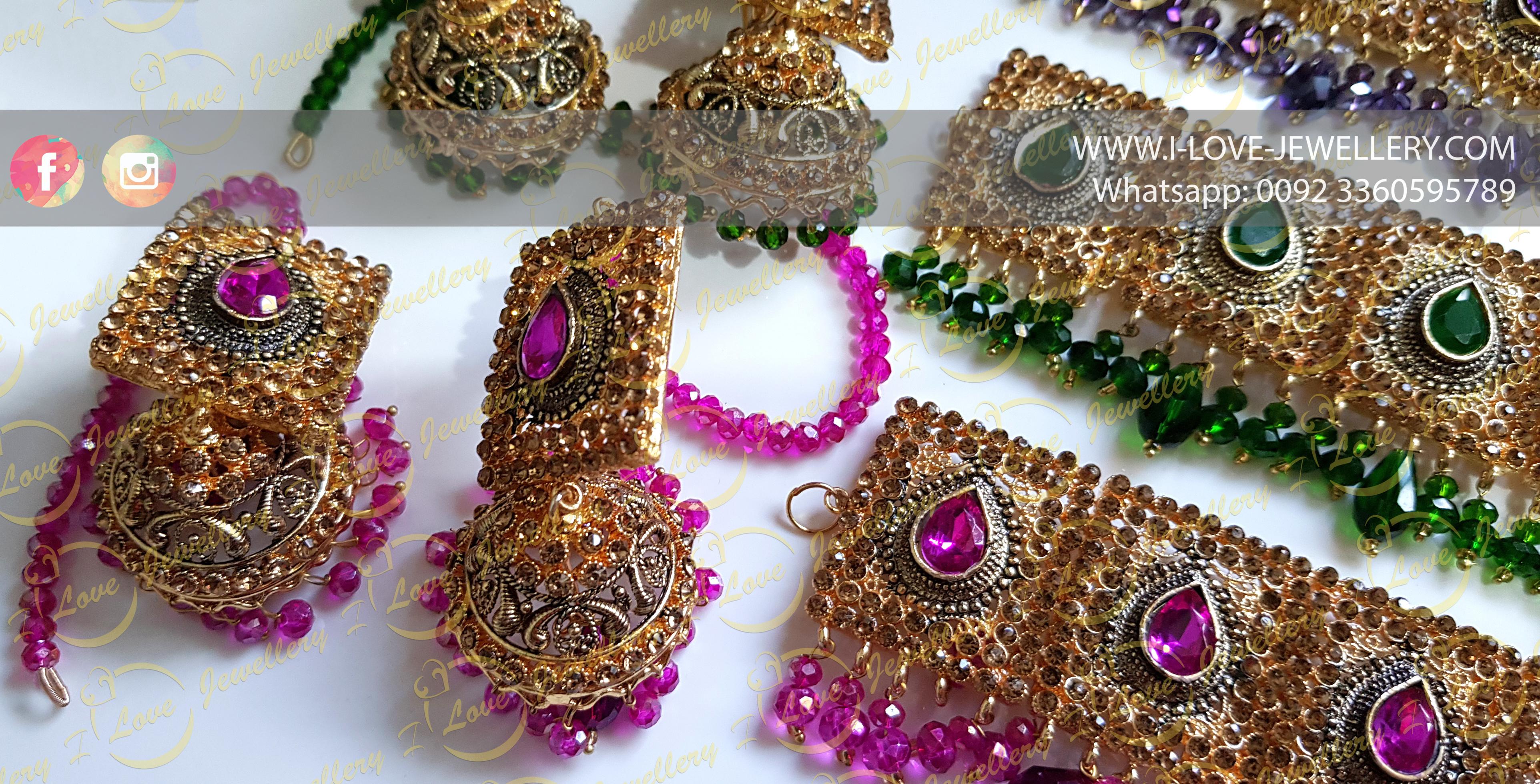 Pakistani choker - green choker - pink choker - bridal chokers - mehndi jewellery - Pakistani wedding jewellery - Pakistani bridal jewellery - wholesale Pakistani jewellery - bespoke Pakistani jewellery