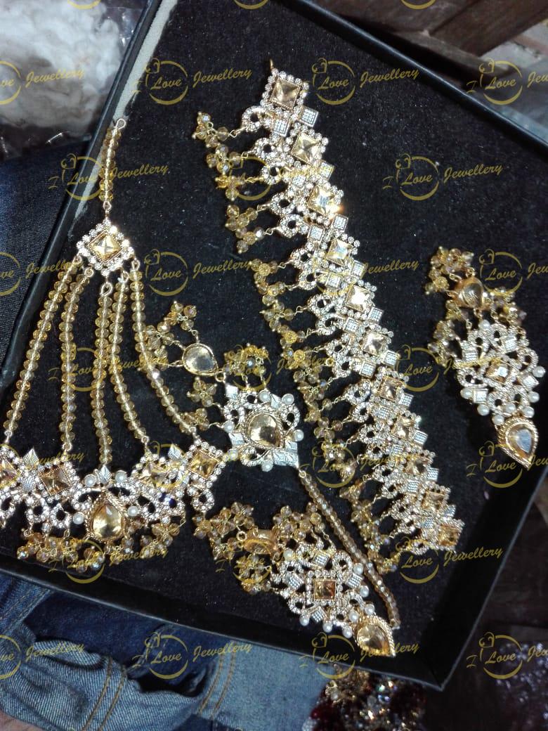 Pakistani choker - Champagne choker - bridal chokers - mehndi jewellery - Pakistani wedding jewellery - Pakistani bridal jewellery - wholesale Pakistani jewellery - bespoke Pakistani jewellery