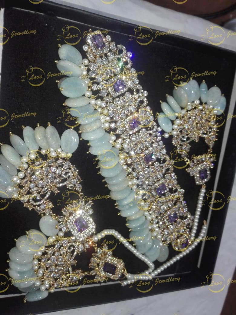 Pakistani choker - light green choker - purple choker - mehndi choker - bridal chokers - wedding choker necklace- golden choker - wholesale Pakistani jewellery - bespoke Pakistani jewellery