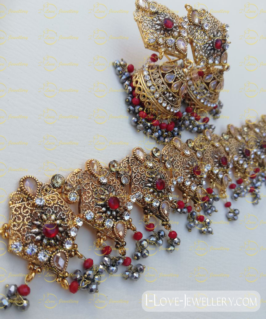 Pakistani choker - golden choker - mehndi choker - bridal chokers - wedding choker necklace- pearl choker - wholesale Pakistani jewellery - bespoke Pakistani jewellery