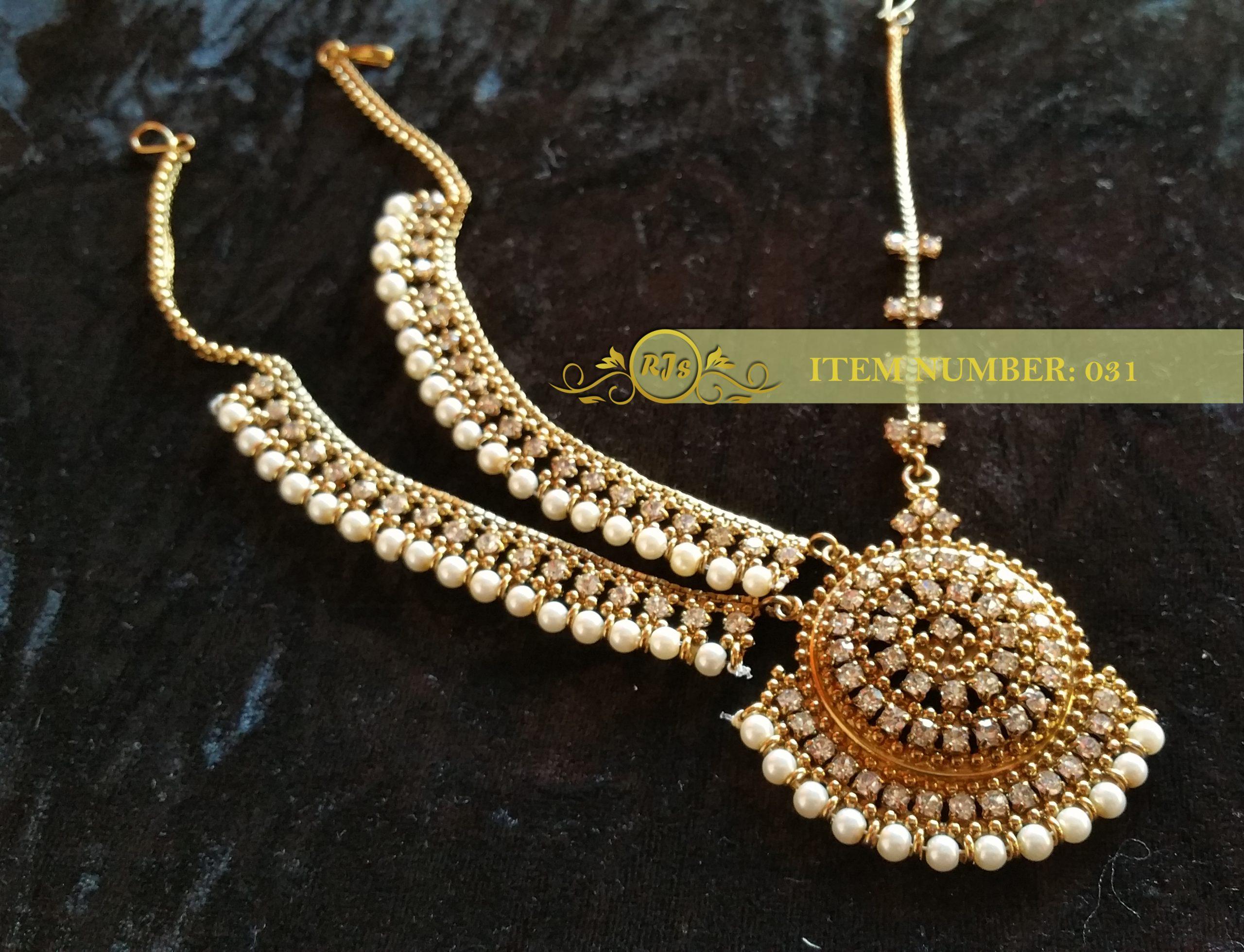 side matha pati - head jewellery - wholesale Pakistani jewellery - bespoke Pakistani jewellery