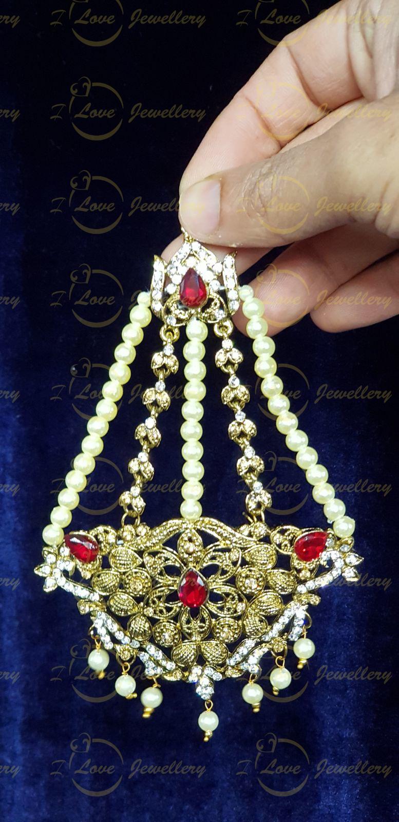 Jhoomar tikka - bindi tikka - collection of Pakistani jhoomar tikka sets - wholesale Pakistani jewellery - bespoke Pakistani jewellery