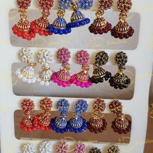 small jhumki earrings - golden jhumki earrings - wholesale Pakistani jewellery - bespoke Pakistani jewellery