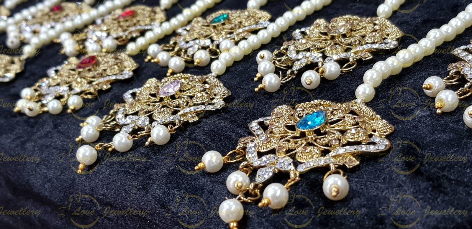 Tikkas- collection of Pakistani jhoomar tikkas - wholesale Pakistani jewellery - bespoke Pakistani jewellery
