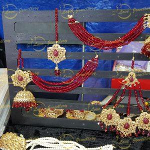 maroon earrings - maroon saharay earrings - wedding jewellery - bridal earrings - wholesale Pakistani jewellery - bespoke Pakistani jewellery