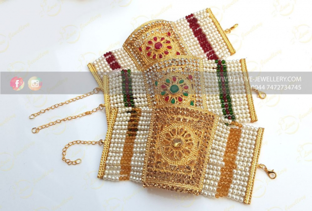 kalai bracelet - maroon kalai bracelet - wholesale Pakistani jewellery - bespoke Pakistani jewellery