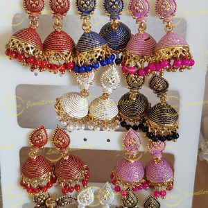 small jhumki earrings - jhumki earrings - wholesale Pakistani jewellery - bespoke Pakistani jewellery