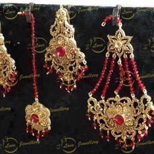 jhoomar tikka earrings set - bridal jewellery - wholesale Pakistani jewellery - bespoke Pakistani jewellery