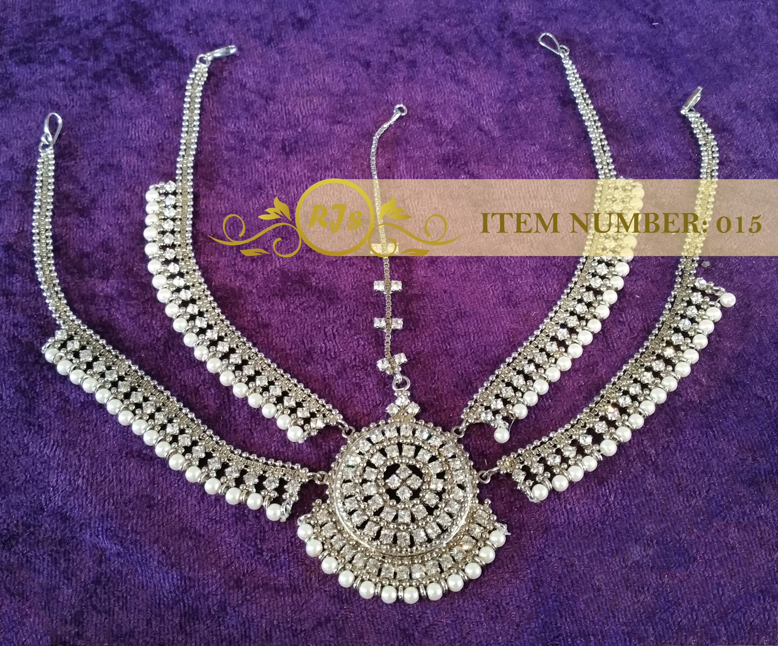 front matha pati - head jewellery - silver bridal matha pati - wholesale Pakistani jewellery - bespoke Pakistani jewellery