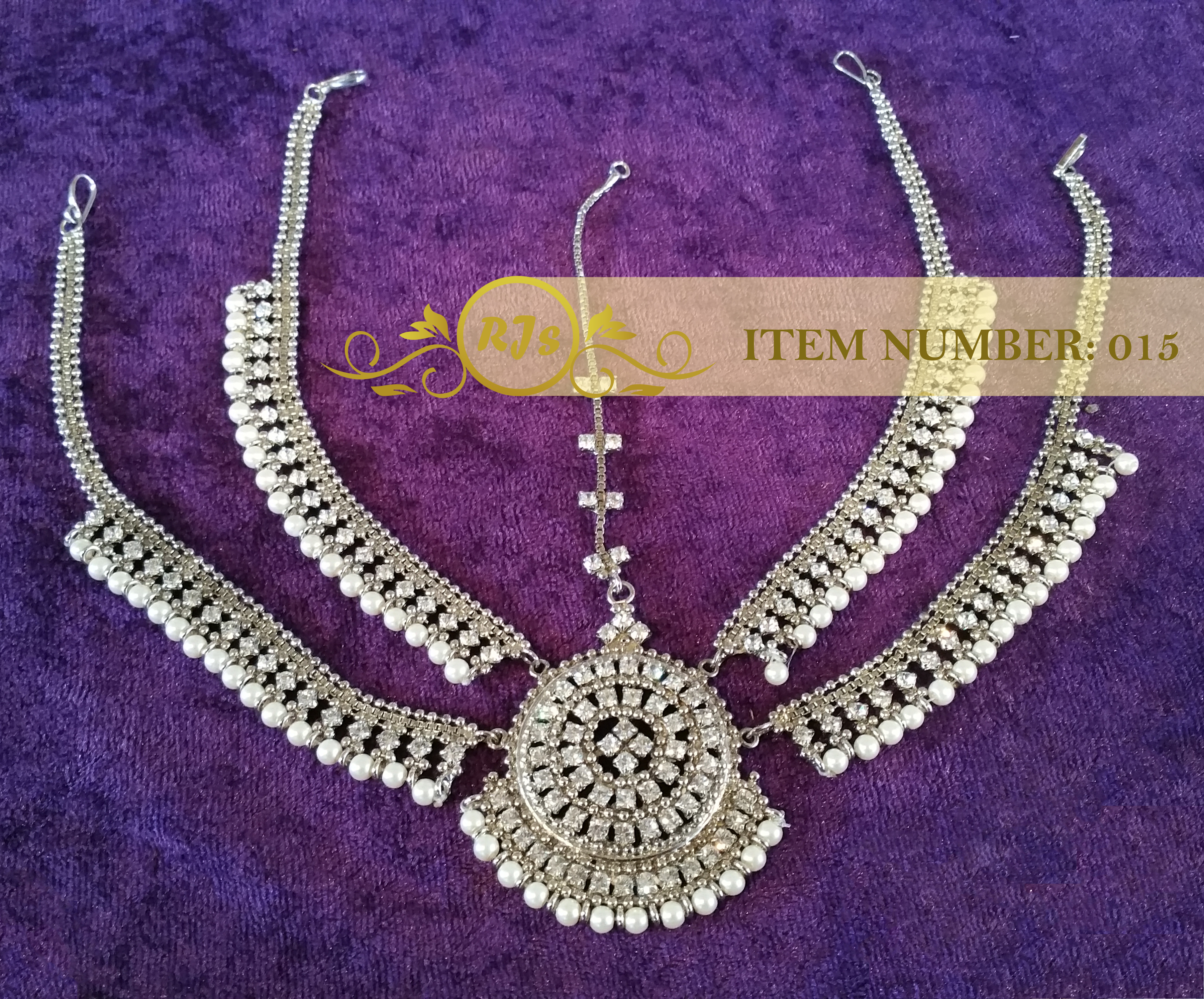 front matha pati - head jewellery - silver bridal matha pati - wholesale Pakistani jewellery - bespoke Pakistani jewellery