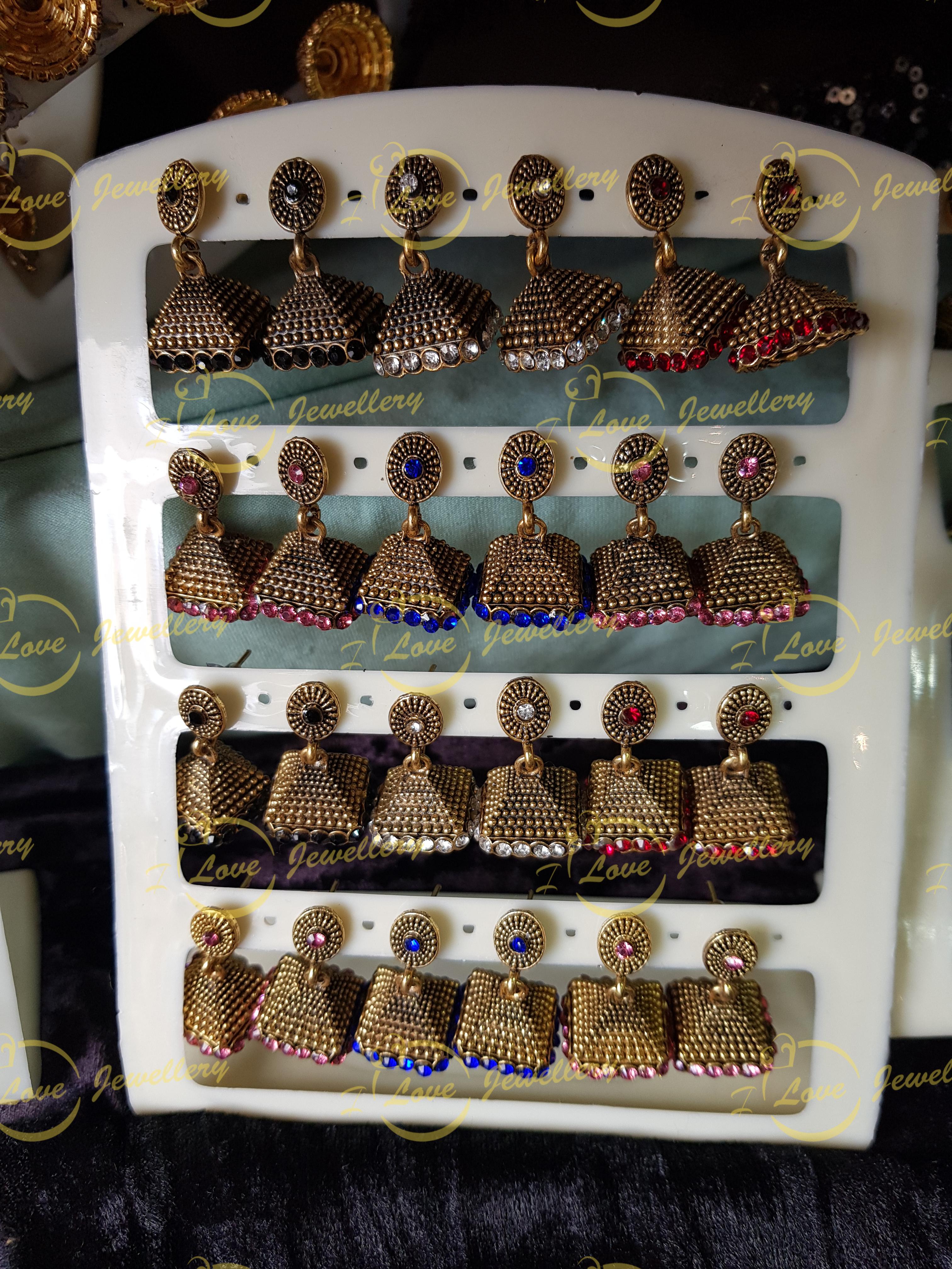 small jhumki earrings - multi jhumki earrings - wholesale Pakistani jewellery - bespoke Pakistani jewellery