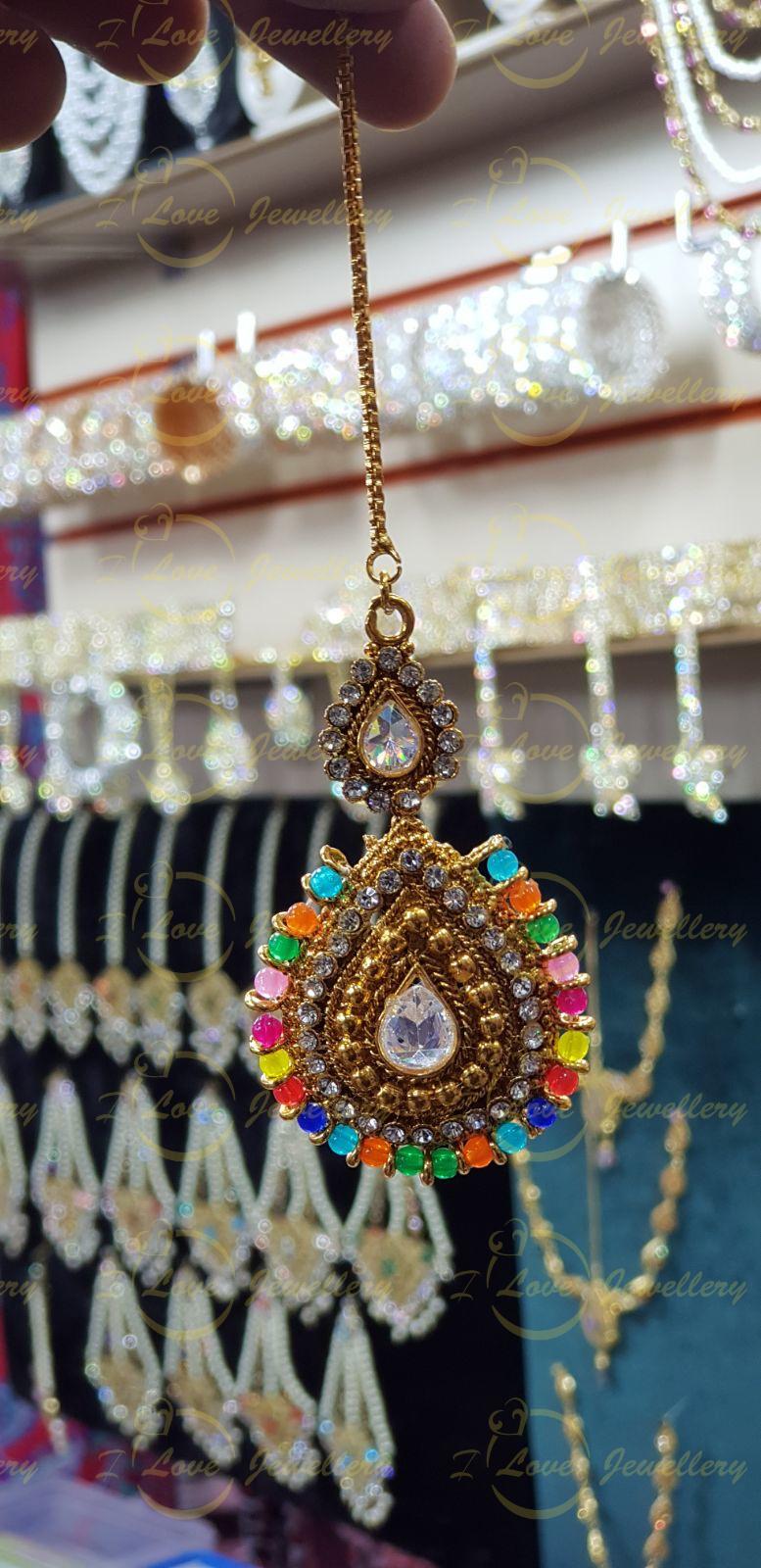 Mehndi Jhoomar tikka - bindi tikka - collection of mehndi jhoomar tikka sets - wholesale Pakistani jewellery - bespoke Pakistani jewellery