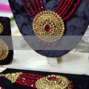Pakistani bridal jewellery - maroon bridal necklace - bridal chokers - bridal mala - mehndi jewellery - Pakistani wedding jewellery - Pakistani bridal jewellery - wholesale Pakistani jewellery - bespoke Pakistani jewellery