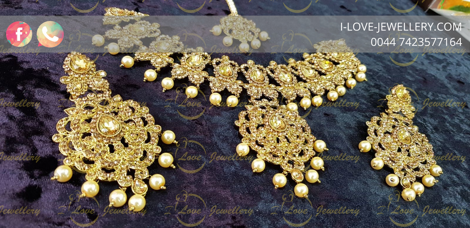 Pakistani jewellery - pearl necklace - multi necklace- golden necklace - champagne necklace - silver necklace - mehndi jewellery - Pakistani bridal jewellery - wholesale Pakistani jewellery - bespoke Pakistani jewellery
